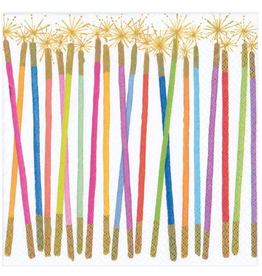 Caspari Paper Luncheon Napkins 20ct Birthday Candles Sparklers