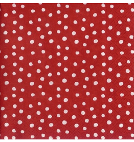Caspari Paper Napkins 9500L Small Dots Red Lunch Napkins
