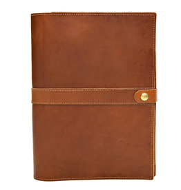 White Wing Label Leather Portfolio Large 10x13 in Chestnut