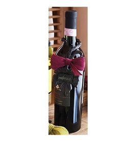 Mud Pie Grape Leaf Wine Bottle Tag -Cabernet