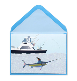 PAPYRUS® Fathers Day Card Handmade Marlin Fishing