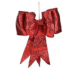 Mark Roberts Christmas Decorations Red Glitter Bow SM 8 inch