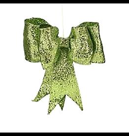 Green Glitter Bow SM 8 inch