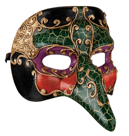 Gallerie II Mardi Gras Halloween Witch Mask 6x8x5 Inch