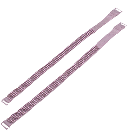 Jacqueline Kent Jewelry Crystal Bra Straps Pink Set of 2