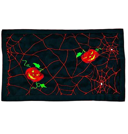 Peking Handicraft Halloween Placemats Pumpkin w Spider Web 13x19 inch