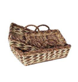 Gallerie II Rustic Woven Tray Large -C