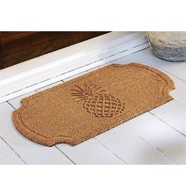 Mud Pie Pressed Pineapple Doormat Woven Coir Mat 30x17 Inch