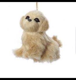 Kurt Adler Christmas Ornament Plush Dog Golden Retriever 3.5 inch