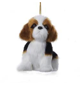 Kurt Adler Christmas Ornament Plush Dog Beagle 4 inch