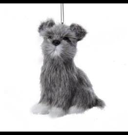 Kurt Adler Plush Schnauzer Dog Christmas Ornament 3.5 inch