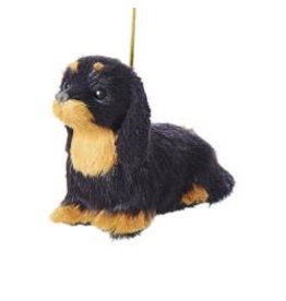 Kurt Adler Christmas Ornament Plush Dog Dachshund 4 inch
