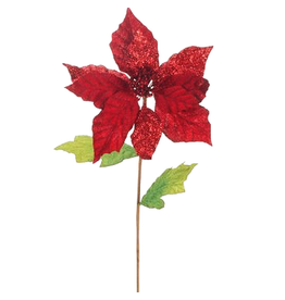 Mark Roberts Christmas Decorations Flowers Floral Red Poinsettia 26L
