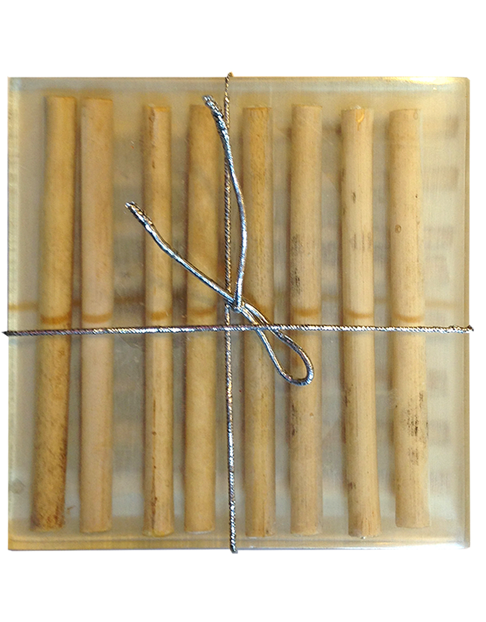 Digs Bamboo Sticks Coasters Set of 4 Bamboo Sticks in Polyresin