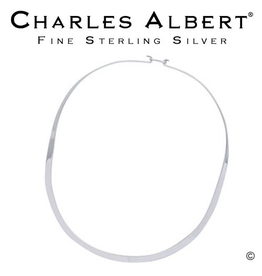 Charles Albert Jewelry NW2O Oval Silver Neckwire w Clasp
