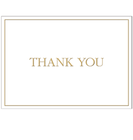 Caspari Thank You Note Cards Embossed Set of 6  84643.48