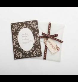 Photo Frame Greeting Card Memories - Chocolate Pink Swirls Frame