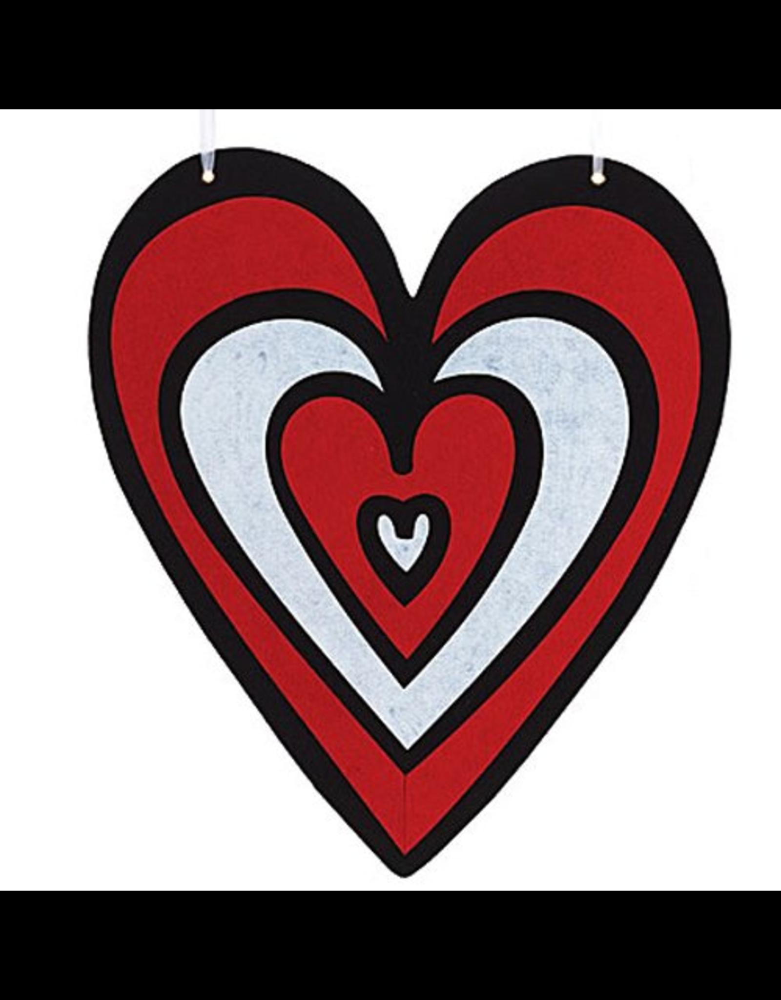Burton and Burton Love Valentines Decor Hanging Felt Heart Lg 9718630-A