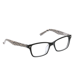 Reading Glasses Zuma Blue Light Black Stripe +2.25