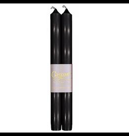 Caspari Crown Candles Tapers 10 inch 2pk Black