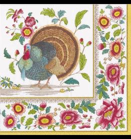 Caspari Thanksgiving Paper Lunch Napkins 20pk Turkey Setting