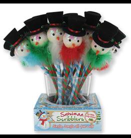 DM Merchandising Snowman Scribblers Holiday Pen w Sequined Top Hat Snowman w Fur