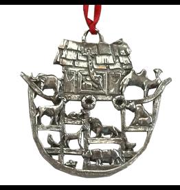 Noahs Arc Pewter Christmas Ornament