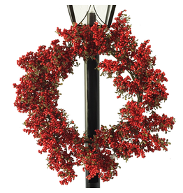 Darice Christmas Wreath 22 inch Red Berry Wreath