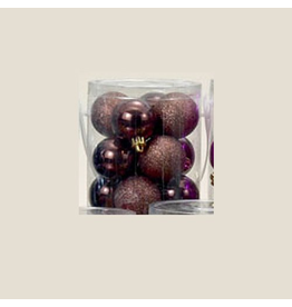 Kurt Adler Coffee Shatterproof Ball Ornaments Shiny and Glittered Set of 32