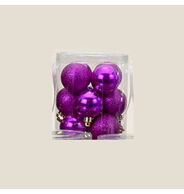 Kurt Adler Fuchsia Shatterproof Ball Ornaments Shiny and Glittered Set of 32