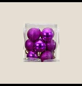 Kurt Adler Fuchsia Shatterproof Ball Ornaments Shiny and Glittered Set of 32