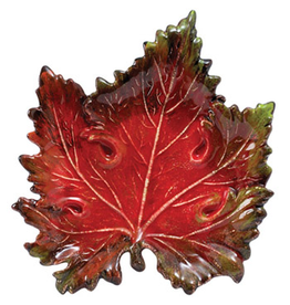 Vietri Italian Red Fall Leaf Serving Platter LEV-7826R