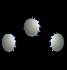 Snowfall Lights SD80MM LED Triple Silver Disc SnowDisc Lights Set