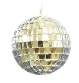 Kurt Adler Mirror Ball Ornaments 4-inch Disco Balls Set of 4