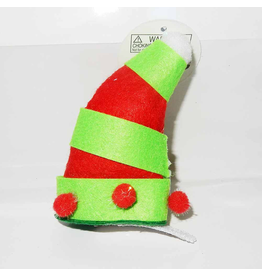 DM Merchandising Mini Santa Elf Christmas Hat Hair Clip - E