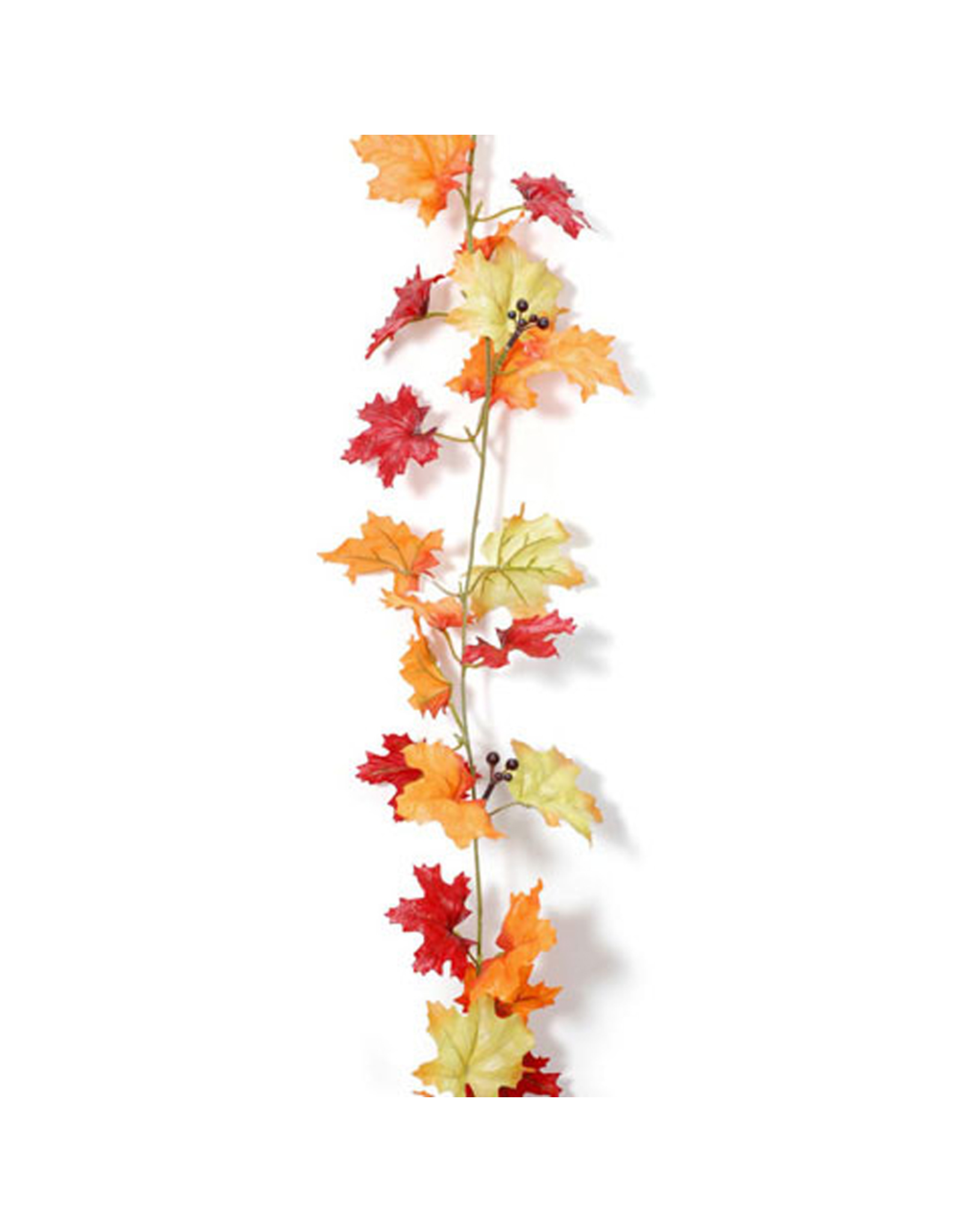 Darice Fall Leaf Garland Maple Leaves W Berries 9 Feet Floral Decor Digs N Gifts