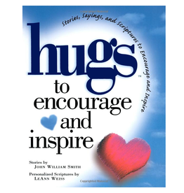Simon and Schuster Gift Book Hugs to Encourage and Inspire Stories Sayings Scriptures