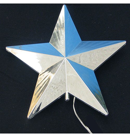 Tree Topper by Snowfall Silver Star LED Tree Topper