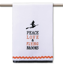 Peking Handicraft Halloween Kitchen Hand Towel Witch Flying Broom