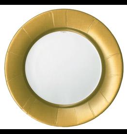 Caspari Paper Salad-Dessert Plates Linen Gold 8pk