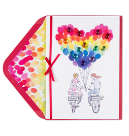 PAPYRUS® Anniversary Card Lesbian Mrs Mrs Bicycle Girlfriends