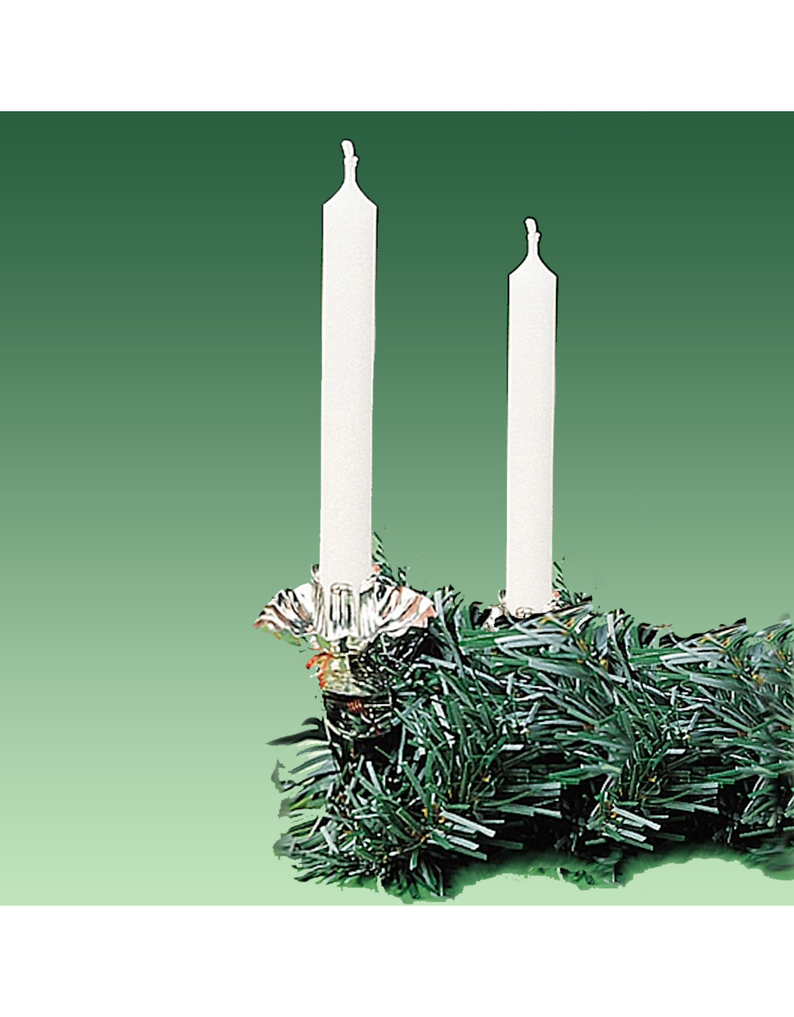 Kurt Adler Candles White Dripless Candle Set of 12 for 1/2 inch Holders