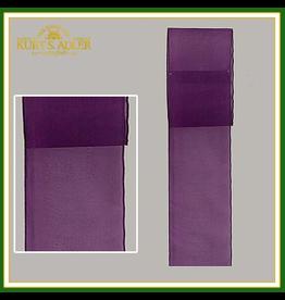 Kurt Adler Sheer Purple Wired Ribbon 2.5 x 10 Yards