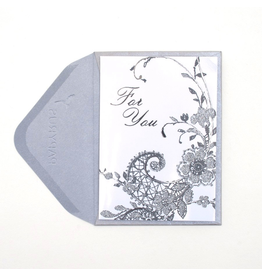 PAPYRUS® Gift Enclosure Card Vintage Lace With For You