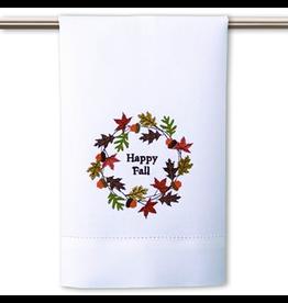 Peking Handicraft Thanksgiving Towel Fall Leaves Happy Fall Embroidery
