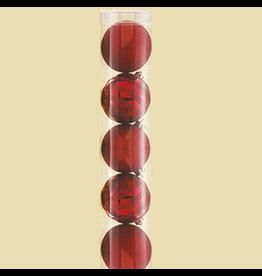 Kurt Adler Christmas Shatterproof Ball Ornament 70MM Set of 7 Red