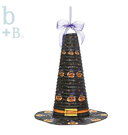Burton and Burton Halloween Hanging Paper Witch Hat Decoration 18 Inch Black