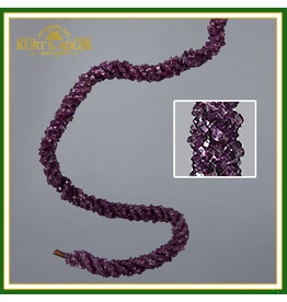 Kurt Adler Purple Crystal on Twisted Twine  Rope Garland K2183 Kurt Adler