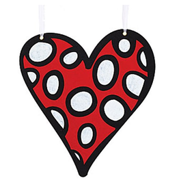 Burton and Burton Love Valentines Decor Hanging Felt Heart Sm 9718630-C