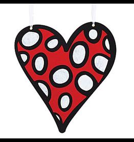 Burton and Burton Love Valentines Decor Hanging Felt Heart Sm 9718630-C